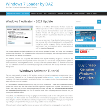 dazloaderteam com at WI  Windows 7 Loader - Official DAZ