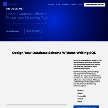 Dbdesigner Net At Wi 1 Database Design Modeling Tool