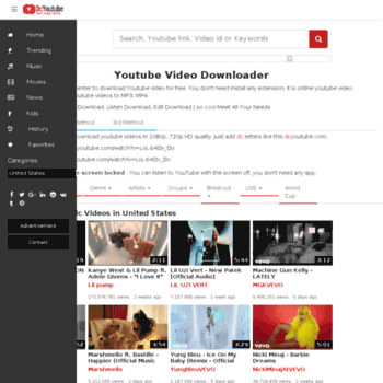 dcyoutube net at WI  Download Youtube Videos & Convert
