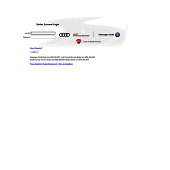 Dealers Vwcredit Com At Wi Dealer Extranet Login