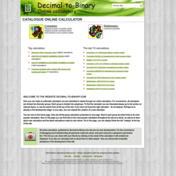 decimal-to-binary com at WI  Decimal to Binary Converter Online