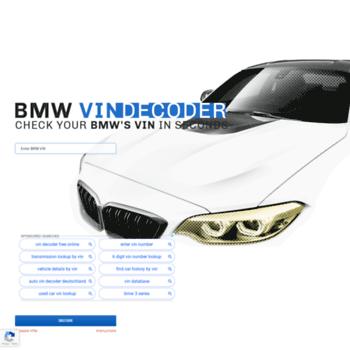 Check Vin Online >> Decoder Bvzine Com At Wi Free Online Bmw Vin Decoder