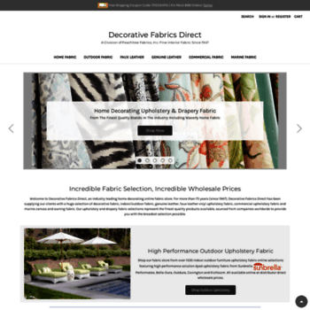 Decorativefabricsdirect Com At Wi Decorative Fabrics Direct