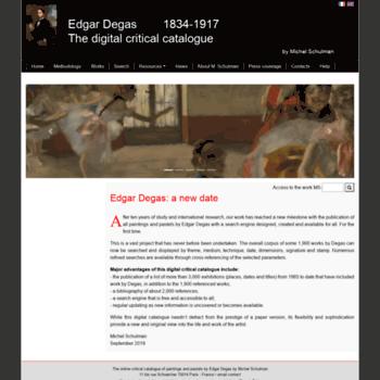 Degas-catalogue.com thumbnail