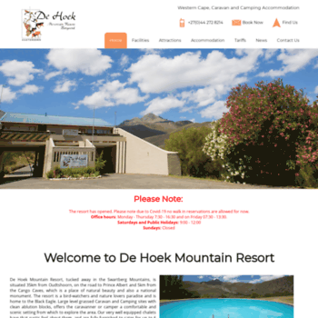 Dehoekmountainresort.co.za thumbnail