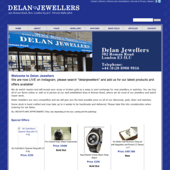 Delanjewellers.co.uk thumbnail