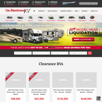 demontrondrv com at WI  DeMontrond RV | Dallas, TX | RV Dealer