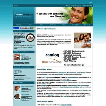 Dentalhungary.ie thumbnail