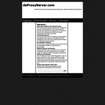 deproxyserver com at WI  Free Proxy - Surf Anonymously