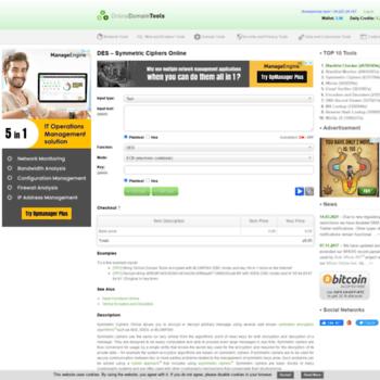 des online-domain-tools com at WI  DES Encryption – Easily