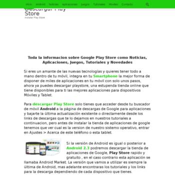 descargarplaystore info at Website Informer  Visit