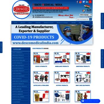 descomedicalindia com at WI  Desco Medical India | Medical