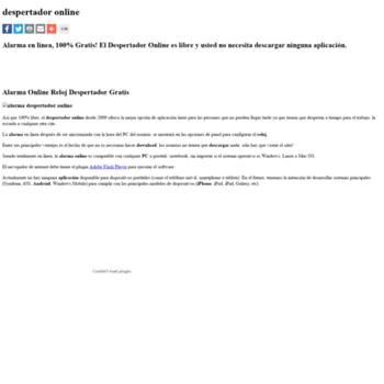 012e1f829806 despertadoronline.com.es at WI. Despertador Online - Alarma reloj ...