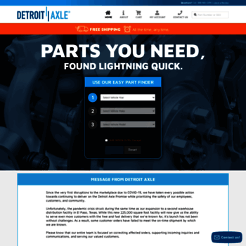 detroitaxle com at WI  Detroit Axle - Automotive Parts