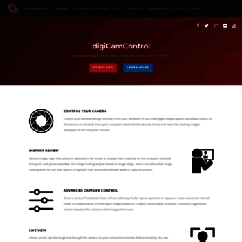 digicamcontrol com at WI  Easy to use, free solution for complex