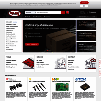 digikey co uk at WI  DigiKey Electronics - Free Delivery On