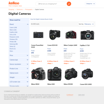 Digitalcameras.kelkoo.co.uk thumbnail