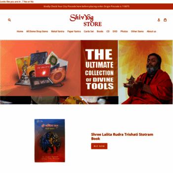 digitalstore shivyogindia com at WI  Shiv Yog Store