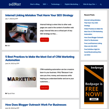 digitechnopost com at WI  Digital Marketing, SEO, Technology Social