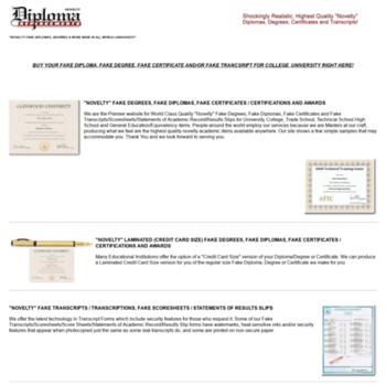 Diplomareplacementservice.com thumbnail