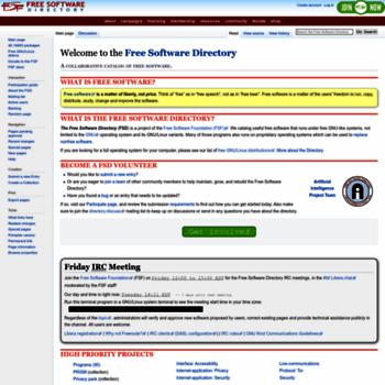 Directory.fsf.org thumbnail