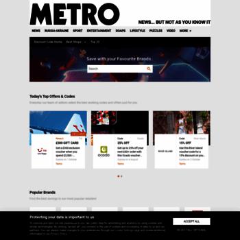 Discountcode.metro.co.uk thumbnail