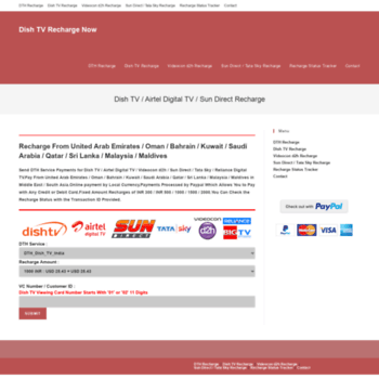 dishtvrechargenow com at WI  Dish TV Recharge Now – UAE Oman