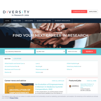 Diversityinresearch.careers thumbnail
