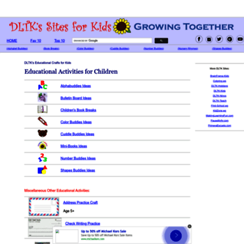 dltk-teach.com at WI. DLTK's Educational Activities for Children