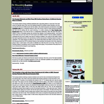 doctorhousingbubble com at WI  Dr  Housing Bubble Blog