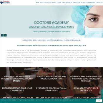 Doctorsacademy.org.uk thumbnail