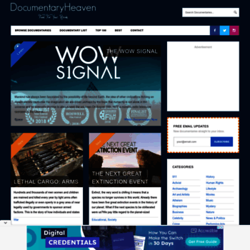 documentaryheaven com at WI  Watch Free Documentaries Online
