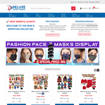 dollarstoresuppliers com at WI  Deluxe Import Trading