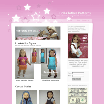 Dollclothespatterns.net thumbnail