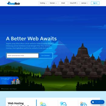 Domainesia Com At Wi Cloud Web Hosting Indonesia Terbaik Domain