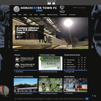 Dorchestertownfc.co.uk thumbnail