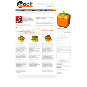 Веб сайт dotsoft.ru