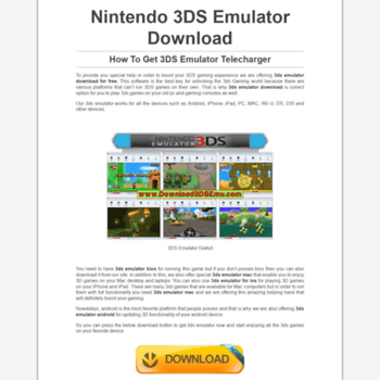 download3dsemu com at WI  Nintendo 3DS Emulator Download