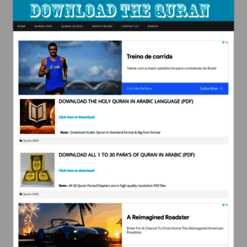 downloadthequran com at WI  Download The Holy Quran (PDF & MP3)