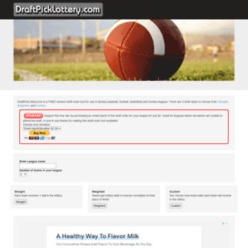 draftpicklottery com at WI  DraftPickLottery com - Random