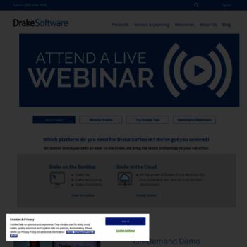 drakesoftware com at WI  Drake Software – Professional Tax
