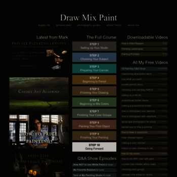 Drawmixpaint Com At Wi Draw Mix Paint Learn To Paint Realism In Oil
