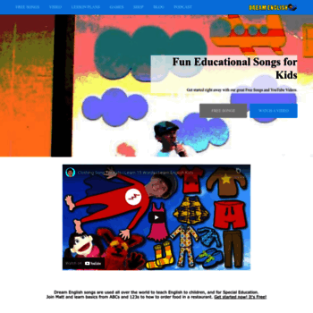 dreamenglish com at WI  Dream English Kids Songs, free mp3