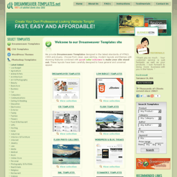 Dreamweaver-templates.net thumbnail