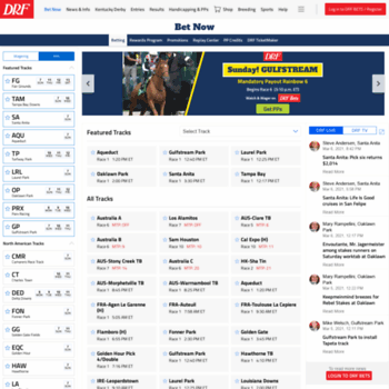 drfbets com at WI  DRF Bets | Online Horse Race Betting, Free PPs
