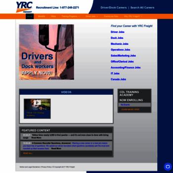 drive4yrc com at WI  Truck Driver Jobs | Dock Worker Jobs
