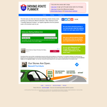 Driving Route Planner Driving Distance Optimizer >> Drivingrouteplanner Com At Wi Driving Route Planner Driving