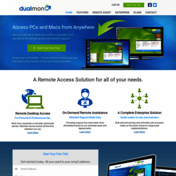 dualmon com at WI  dualmon - Free Remote Desktop and Remote Support