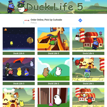 ducklife5 org at WI  Duck Life 5 – Play Now