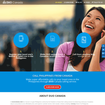 duocanada com at WI  DUO Canada: Unlimited Calls From Canada